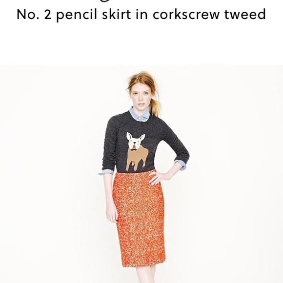 J. Crew Dresses & Skirts - No. 2 pencil skirt in corkscrew tweed pink